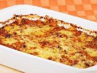 Рецепта Лесна запеканка с патладжани, домати, готов сос бешамел и кашкавал